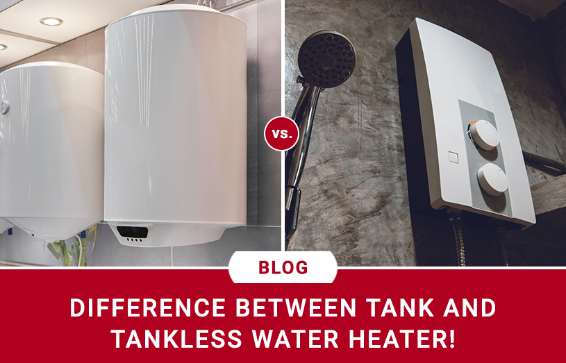 Difference Between Tank and Tankless Water Heater!